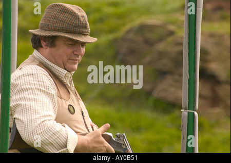English country gentleman clay shoot - Stock Photo
