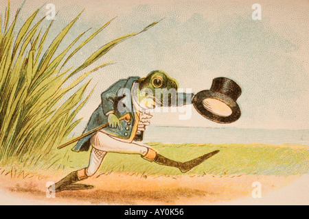 The Frog Who Would A Wooing Go from Old Mother Goose s Rhymes and Tales - Stock Photo