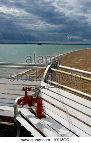 Southsea Fire Hydrant On Pier - Stock Photo