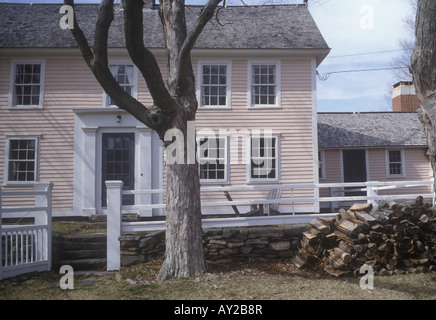 A new england colonial style farmhouse stock photo for New england colonial style