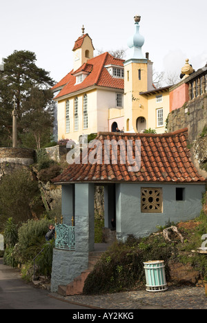 Portmeirion Village, Gwynedd, North Wales, U.K - Stock Photo