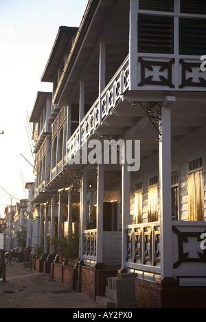 Travel photography from South America Surinam Suriname World heritage site of Paramaribo - Stock Photo