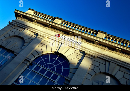 Neo Classical Facade of Nat West Bank in Brighton Sussex England UK - Stock Photo