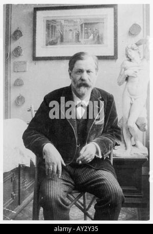 Sigmund Freud 1914 Neg 6 - Stock Photo