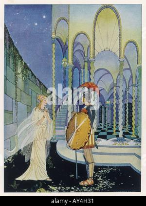 Theseus Tells Ariadne - Stock Photo