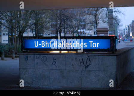 Hallesches Tor station Berlin Germany - Stock Photo