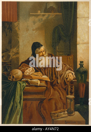 Faust At His Studies - Stock Photo