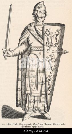 Geoffrey Of Anjou - Stock Photo