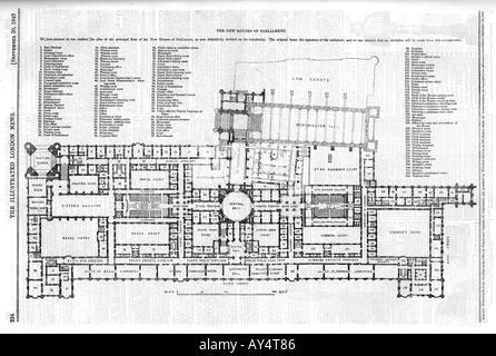 Parliament Plan Iln 1843 - Stock Photo