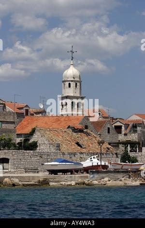 Prvic Sepurine village Croatia Europe - Stock Photo