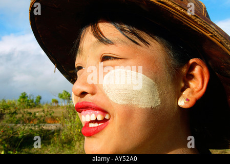 Young woman rural Myanmar - Stock Photo