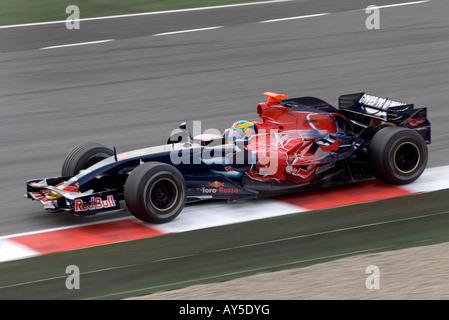 Sebastien Bourdais, driver with the Toro Rosso-Ferrari Formula One team - Stock Photo
