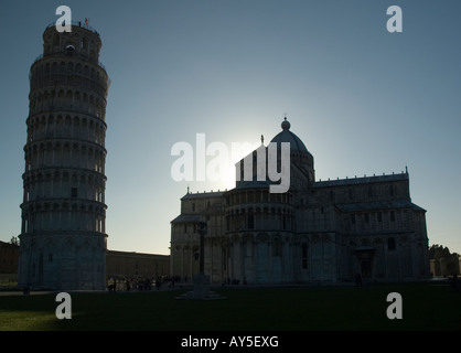 The Duomo and Tower in the Shadow - Stock Photo