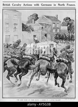 Wwi 1914 Cavalry Fight - Stock Photo