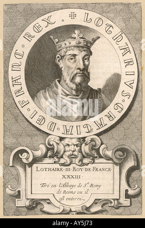 Lothaire  King Of France - Stock Photo