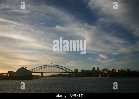 view from mrs macquaries point of syney city skyline - Stock Photo