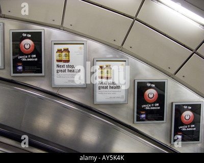 advertisements London underground - Stock Photo