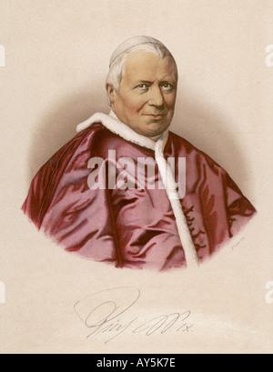 Pope Pius Ix - Stock Photo