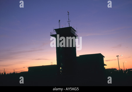 Aerial Transport Control Tower Fr Aerial Transport Control Tower no model or property release - Stock Photo