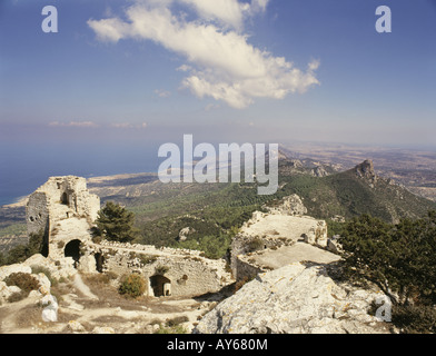 Mountains View of north east tower - Stock Photo