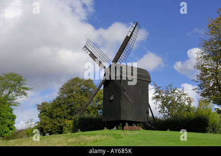 Post wind Mill 1792 Den Gamle By Aarhus Denmark - Stock Photo