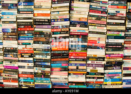 A selection of secondhand paperback books for sale - Stock Photo