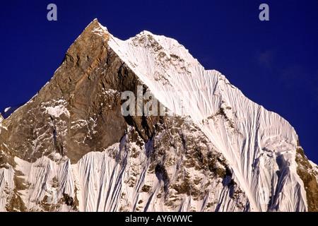 Fishtail Peak Machhapuchhare Annapurna Sanctuary Nepal - Stock Photo