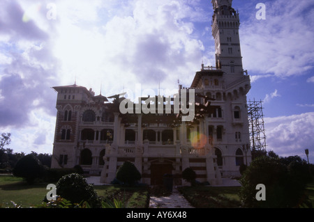 Characteristic View of Montazah Palace Alexandria Arab Republic of Egypt Egyptian North Africa Middle East - Stock Photo