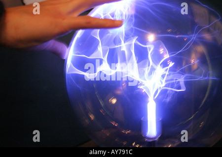 Plasma Static Electricity Glass Ball - Stock Photo