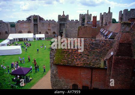 interior framlingham castle during an open day suffolk england