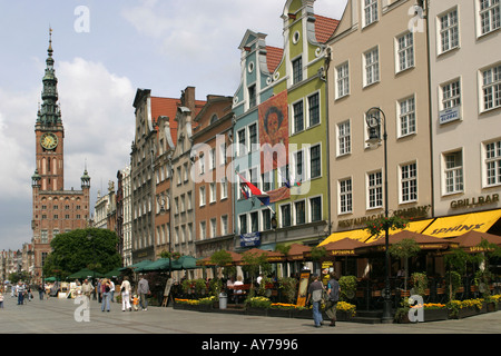 Poland Gdansk Town hall Dlugi Targ - Stock Photo