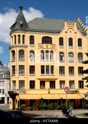The Black Cat Club in Latvia, 200 year old building. - Stock Photo