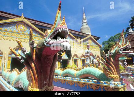 Chayamangkalaram wat  , Wat Buppharam in Penang Georgetown Malaysia - Stock Photo