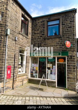 Village Post Office in Howarth West Yorkshire England - Stock Photo