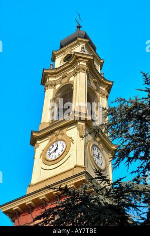 Porinho, Italy Clock Tower - Stock Photo