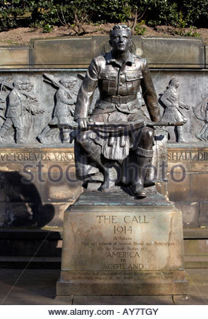 WW1 Scots American War memorial Edinburgh, Scotland - Stock Photo
