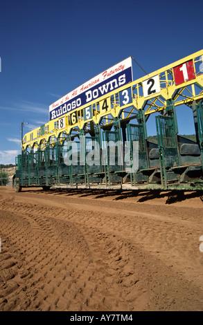 Ruidoso Downs Racetrack, home to the All American Futurity - world's richest quarter horse race, in Ruidoso Downs, - Stock Photo