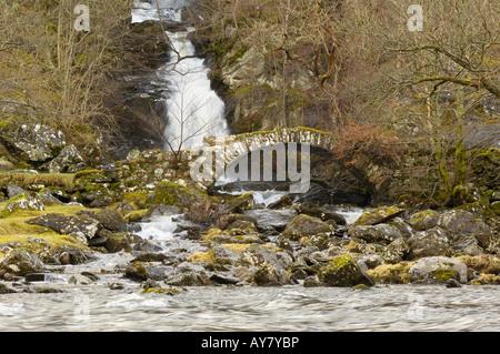 Old bridge, Glen Lyon, Perth and Kinross, Scotland - Stock Photo