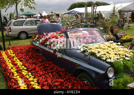 UK Cheshire Knutsford Tatton Hall RHA Flower Show Vale Royal Councils abandoned car feature