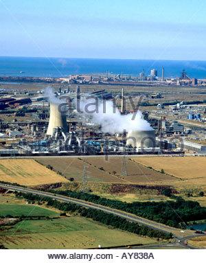 Chemical plant Teeside ICI s Wilton works - Stock Photo