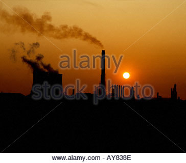 Part of a BP Chemical plant port Talbot South Wales - Stock Photo