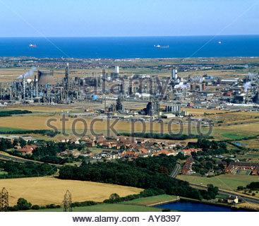 ICI Wilton chemical plant Teeside NE England - Stock Photo