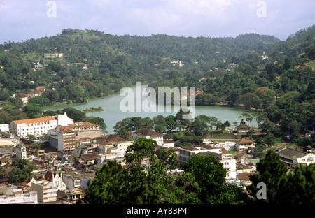Sri Lanka Kandy town and Lake - Stock Photo
