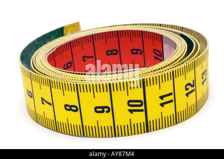 Rolled Tape Measure - Stock Photo