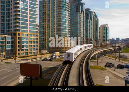 SkyTrain in Vancouver Canada - Stock Photo