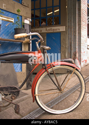 Vintage Schwinn bicycle at antique store - Stock Photo