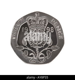 20 pence coin - Stock Photo