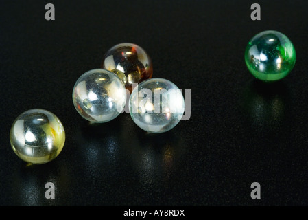 Glass marbles, close-up - Stock Photo