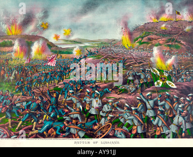 Battle of Liaojang in Russo-Japanese War - Stock Photo