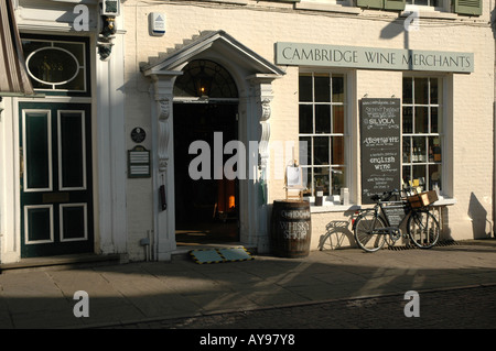 Wine Merchant in Cambridge, uk - Stock Photo
